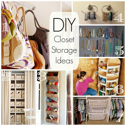 Saturday's Seven - DIY Closet Organization and Storage
