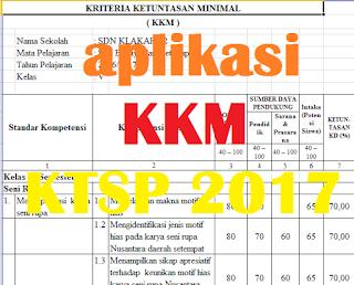 Aplikasi KKM KTSP 2017 Sekolah Dasar