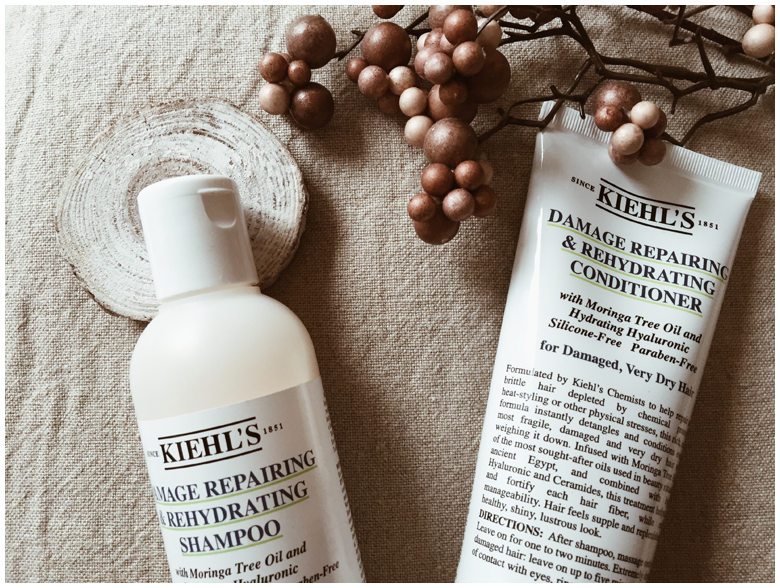 kiehl's damage repairing & rehydrating shampoo and conditioner