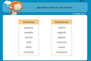 http://www.primerodecarlos.com/TERCERO_PRIMARIA/archivos/actividades_tilde_tercero/9/aumentativos_diminutivos.swf
