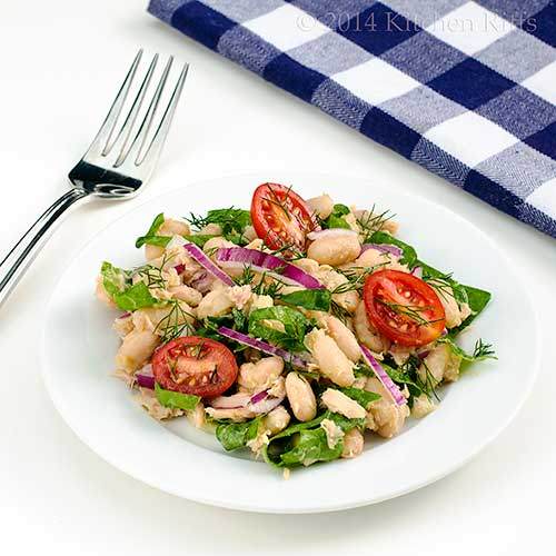 White Bean, Tuna, and Swiss Chard Salad