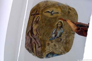 Trójca Święta, sklepienie kapliczki z pocz. XIX w. w Babicach pow. przemyski