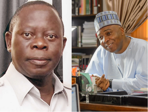 Image result for Saraki can't run to PDP with our crown – Oshiomhole