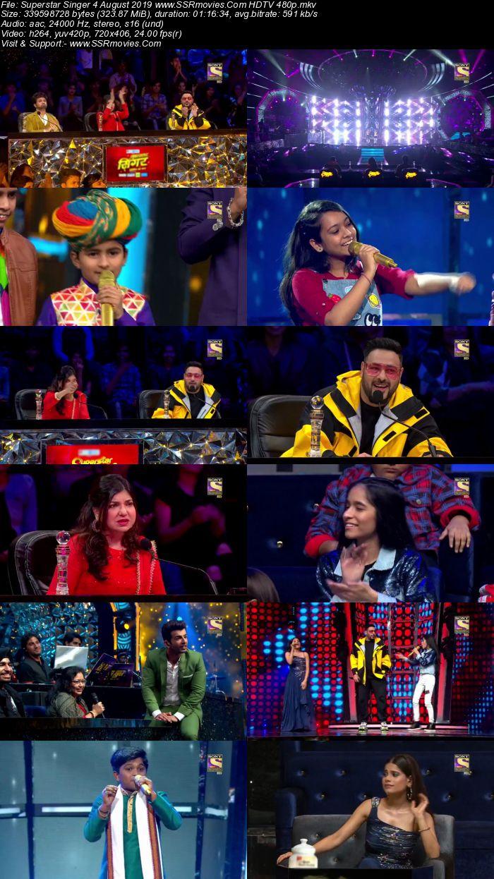 Superstar Singer 4 August 2019 HDTV 480p Full Show Download
