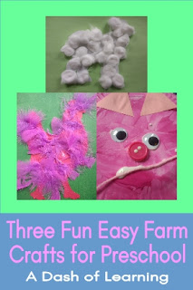 Three Fun Easy Crafts for Preschool