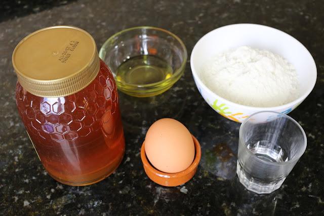 Ingredientes para hojuelas caseras con miel