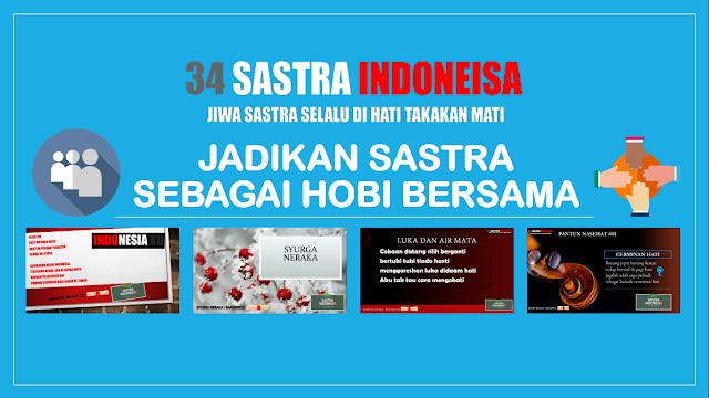 34 Sastra Indoensia | About 34 Sastra Indonesia