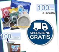 Logo Caffè Borbone: vinci gratis 100 cialde/capsule a scelta + KIT da 100 Accessori