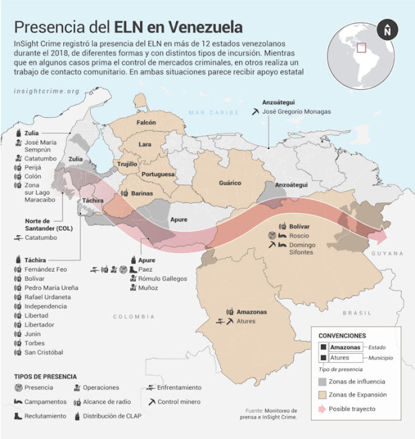 El ELN opera en 12 estados de Venezuela