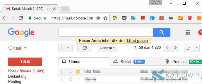 cara mengirim lewat email