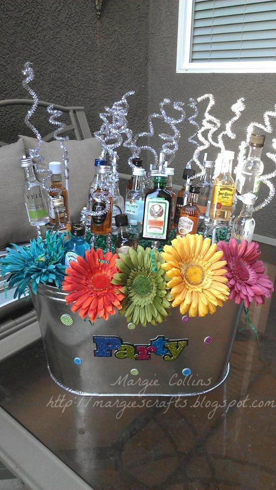 Margies Crafts 21St Birthday Gift Basket