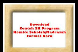 Download Contoh SK Program Komite Sekolah Versi Terbaru 2018