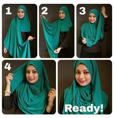 tutoriel hijab snood