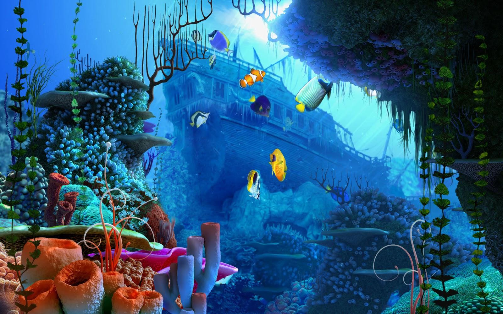Free 3d Hd Live Wallpaper: Free 3D Wallpapers Download: Aquarium Hd Wallpaper