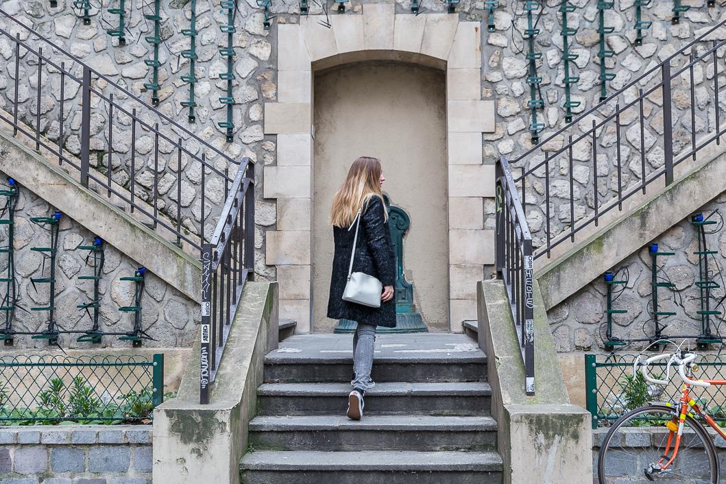blog mode tenue du jour manteau gris