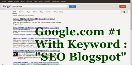 Keyword SEO Blogger