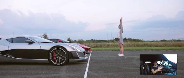【動画】「ラフェラーリ」と「リマック・コンセプトONE」はどっちが速い?