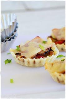 recetas para peques- tartaletas saladas de queso- tarta de queso salada- aperitivo con queso