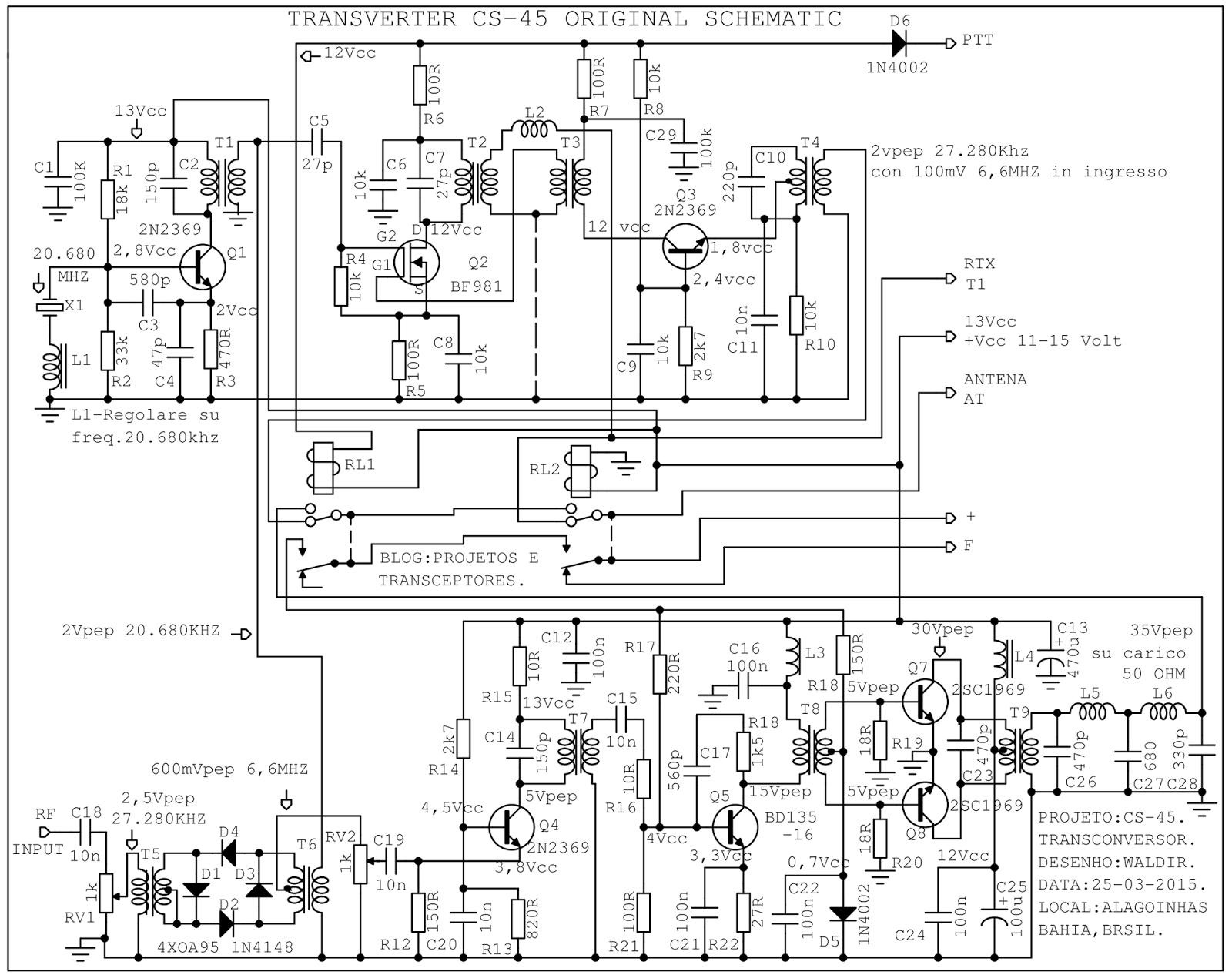 Projetos E Transceptores Esquemas Transverter Cs 45
