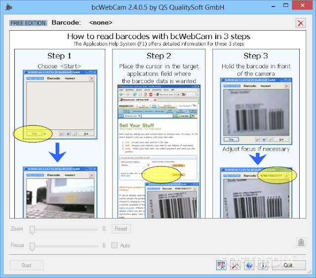 تحميل برنامج ماسح الباركود للكمبيوتر مجانا bcWebCam