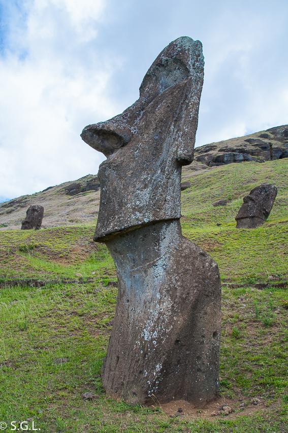Isla de Pascua. Rano Raraku. La cantera de los Moais