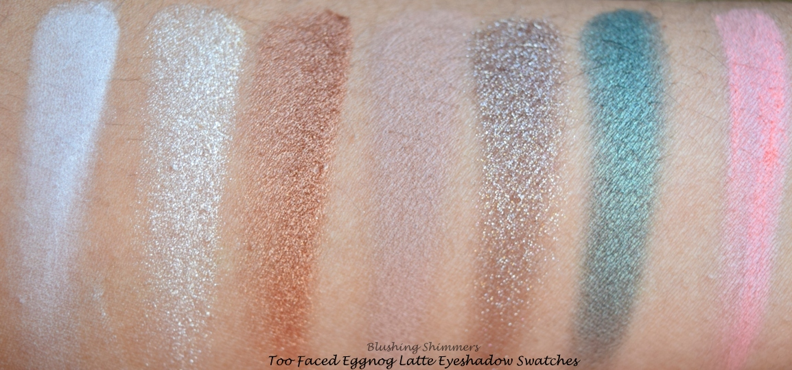 Too Faced Grand Hotel Cafe:Eggnog Latte swatches