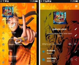 BBM Mod Tema Naruto Base