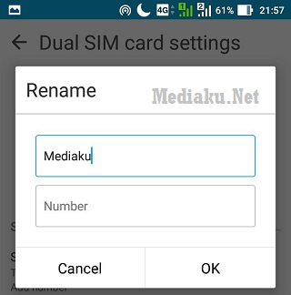 Ganti Nama SIM HP Asus