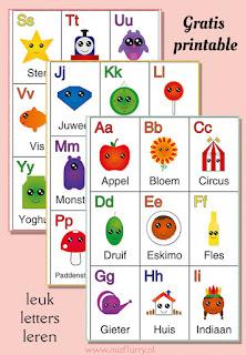 Alfabetkaarten (gratis PDF download)