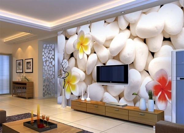 Awesome modern elegant wallpaper ideas for small living room design 2016