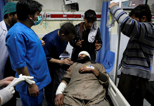 Afghanistan's capital blast- Taliban suicide bomber kills 4, wounds over 100