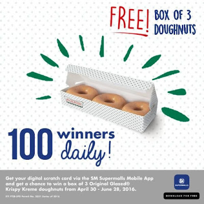 Free Box of 3 Krispy Kreme Doughnuts