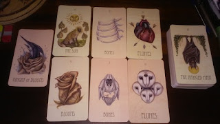 wooden tarot, six card spread