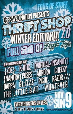 thrift shop poster