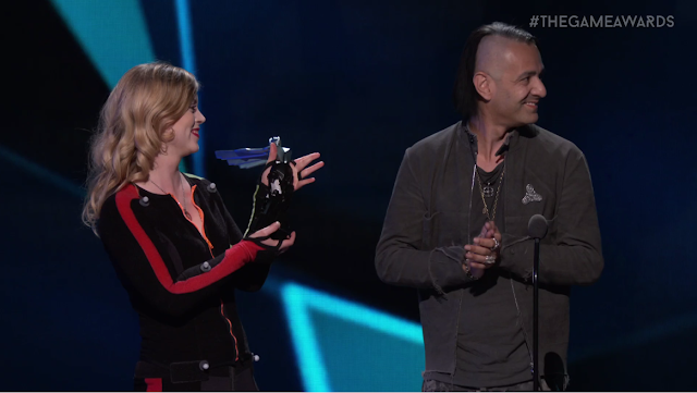 The Game Awards 2017 Hellblade Tameem Antoniades haircut fidget spinner pin