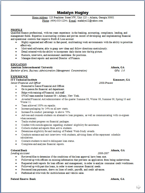 assistant store manager resume model in word format free download