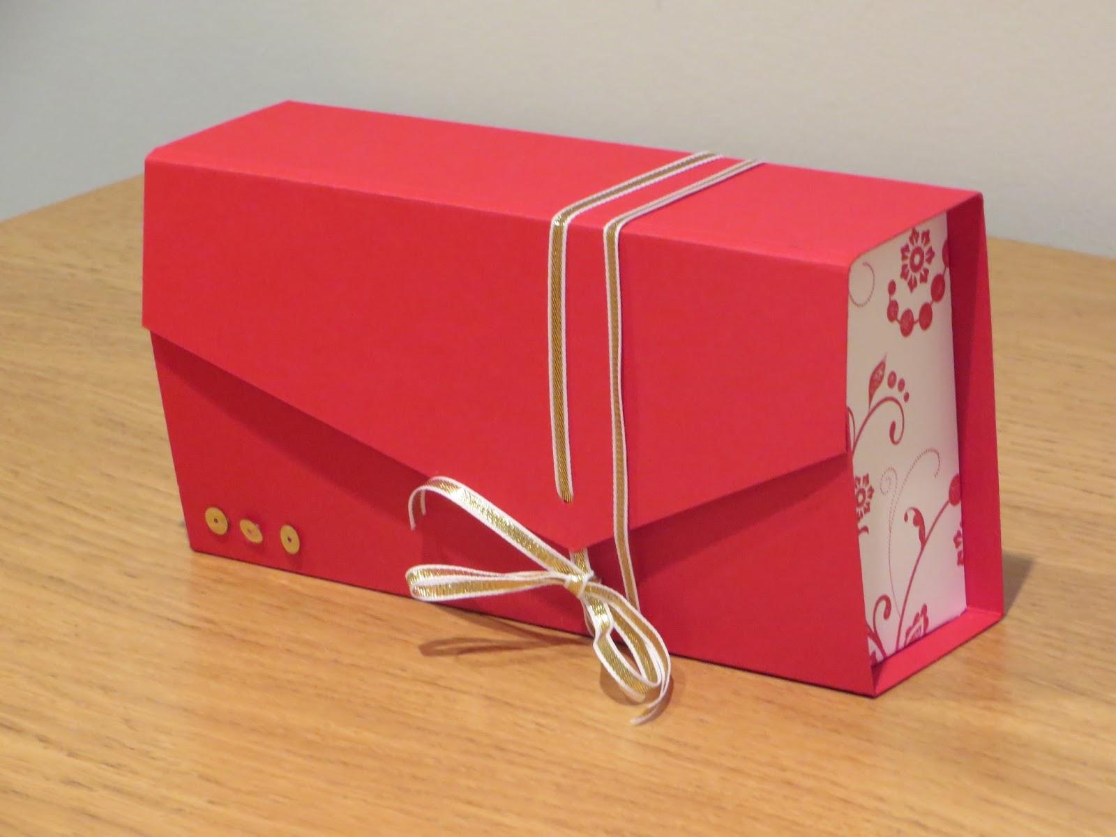 Craftycarolinecreates Clutch Bag Gift Box Tutorial Using Flowering Flourishes By Stampin Up