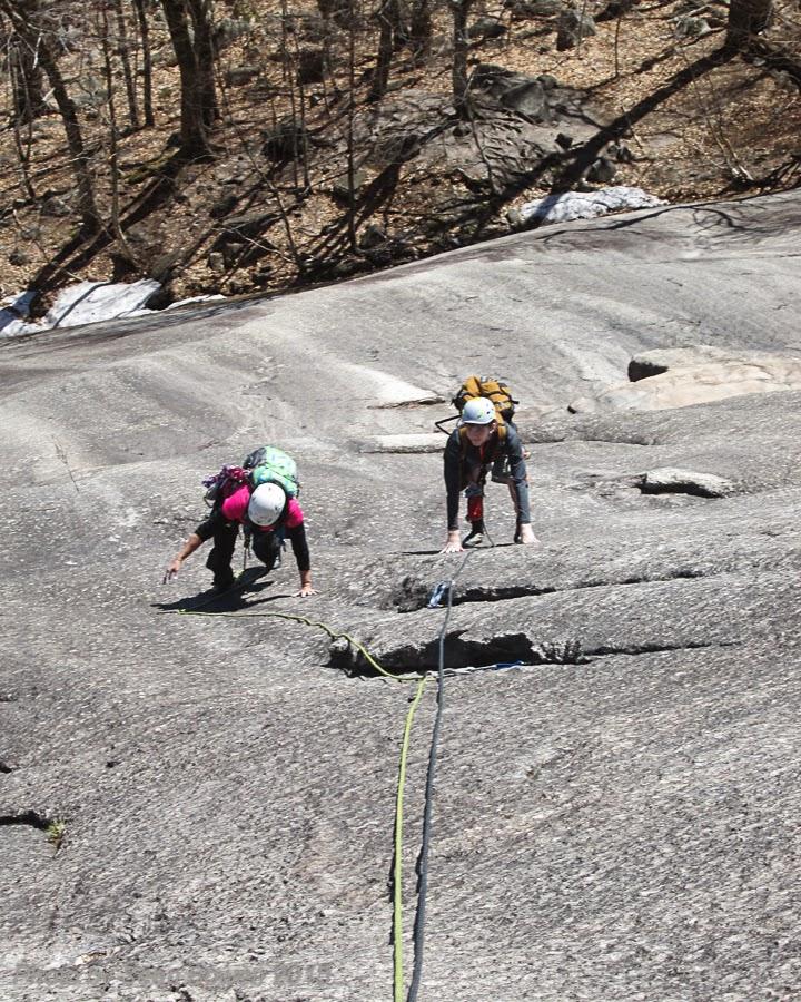 multi pitch rock climb, Whitehorse Ledge