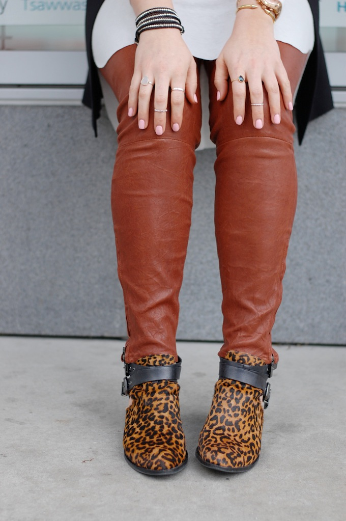 Alden Rae wrap bracelet and Jeffrey Campbell Everly boots by Vancouver fashion blogger Aleesha Harris of Covet and Acquire.