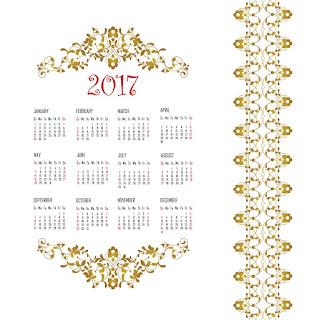 2017カレンダー無料テンプレート93