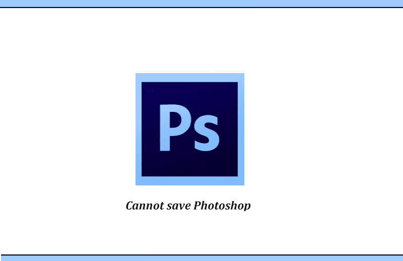 Photoshop tidak bisa simpan gambar