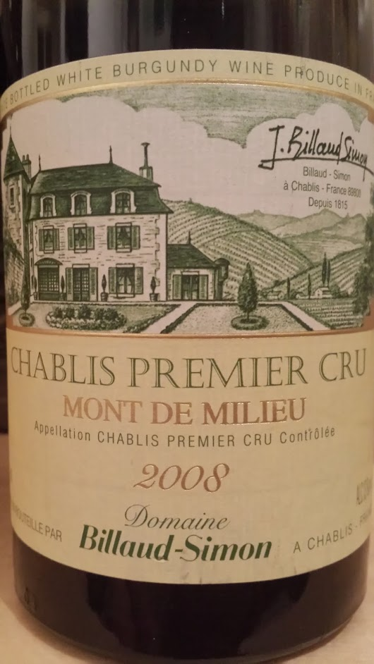 Chablis 1er Cru, Mont de Milieu, 2008 from Billaud-Simon