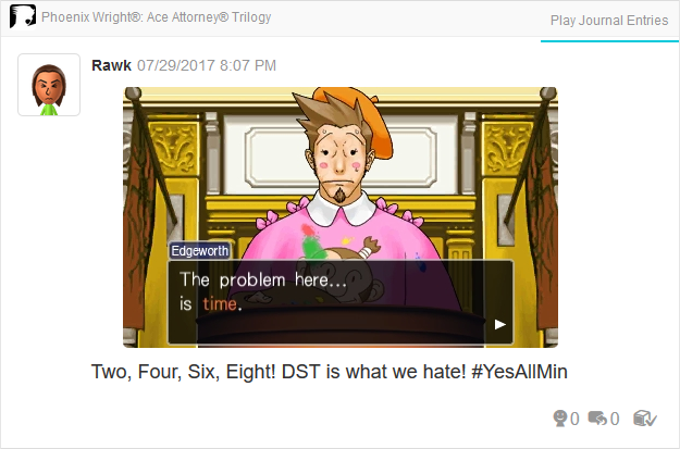 Phoenix Wright Ace Attorney Trials and Tribulations problem here is time