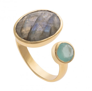 Oliver Bonas Gemstone Split Ring