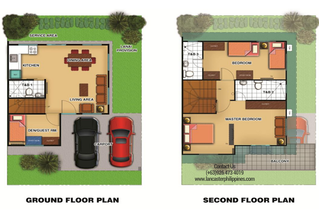 Floor Plan of Chessa - Lancaster New City Cavite | House and Lot for Sale Imus-General Trias Cavite