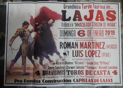 cartel toros toreros lajas chota cajamarca peru corrida