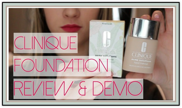 Clinique Acne Solutions Foundation Review<br/>