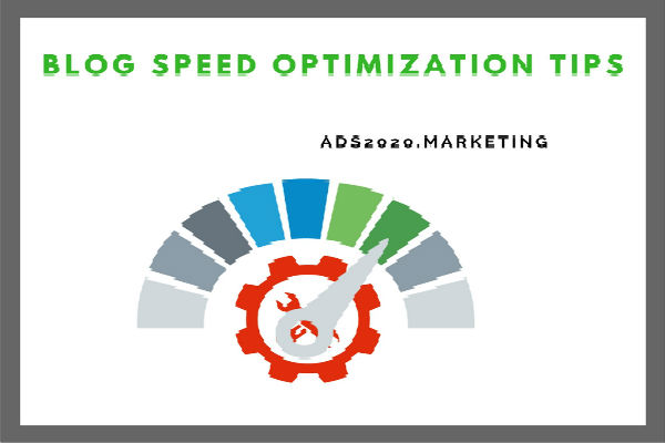 Blog Speed Optimization Blogging Tips 600x400
