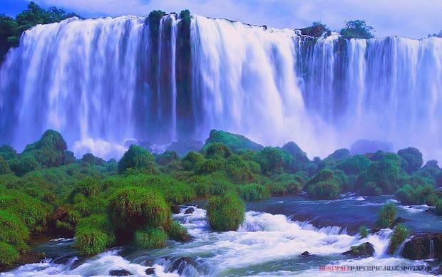 beautiful landscape of waterfall