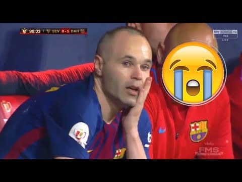 Andreas Iniesta's emotional farewell speech in full as Barcelona legend plays final game for club